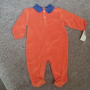 Ralph Lauren Orange & Blue Outfit 9 m-NWT